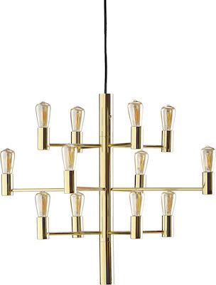 Ceiling light GALAXY, 12-arm, gold