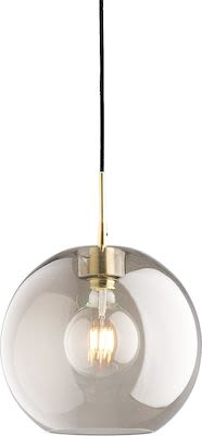 Glass ceiling lamp GATSBY, brass, smoked