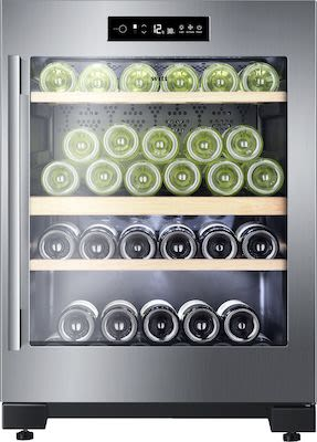 WITT W50A wine cooler, free-standing with 2 temperature zones. H82 cm.