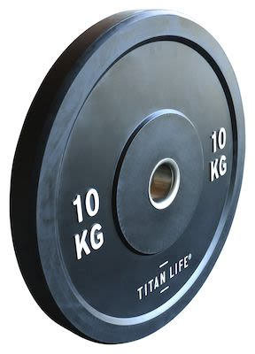 TITAN LIFE Bumper Plate 10kg. Dia. 50mm. Rubber PLEASE CHECK AVAILABILITY WITH CUSTOMERSERVICE - DUE TO THE CORONA PANDEMIC DELIVERY TIME MAY OCCUR