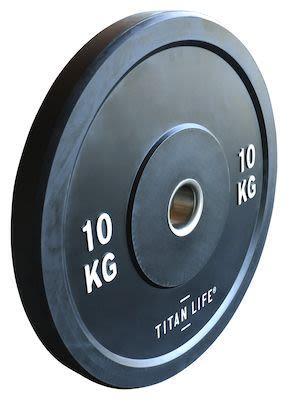 TITAN LIFE Bumper Plate 10kg. Dia. 50mm. Rubber