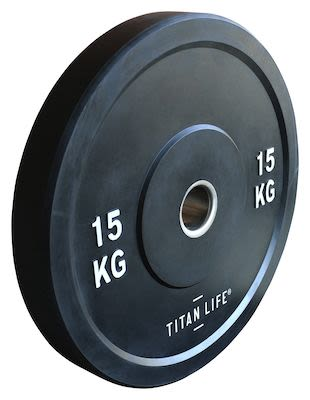 TITAN LIFE Bumper Plate 15kg. Dia. 50mm. Rubber PLEASE CHECK AVAILABILITY WITH CUSTOMERSERVICE - DUE TO THE CORONA PANDEMIC DELIVERY TIME MAY OCCUR