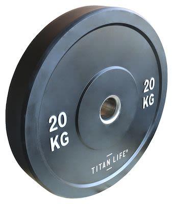 TITAN LIFE Bumper Plate 20kg. Dia. 50mm. Rubber