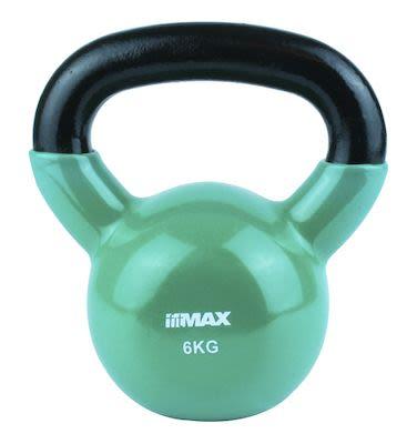 TITAN LIFE Kettlebell 6kg Green. Cast iron incl. Vinyl