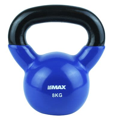 TITAN LIFE Kettlebell 8kg Blue. Cast iron incl. VinylPLEASE CHECK AVAILABILITY WITH CUSTOMERSERVICE - DUE TO THE CORONA PANDEMIC DELIVERY TIME MAY OCCUR