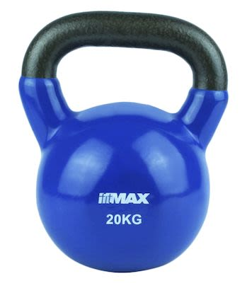 TITAN LIFE Kettlebell 20kg. Blue. Cast iron incl. VinylPLEASE CHECK AVAILABILITY WITH CUSTOMERSERVICE - DUE TO THE CORONA PANDEMIC DELIVERY TIME MAY OCCUR