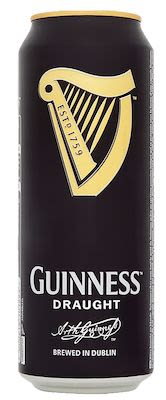 Guinness Draught 24x50 cl. cans. - Alc. 4.2% Vol.