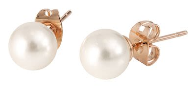 Misaki Ladies' Earrings White Rose Gold