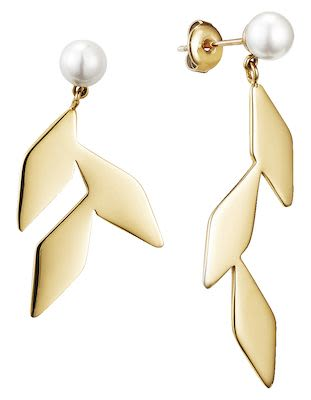 Misaki Ladies' Earrings Tree Gold