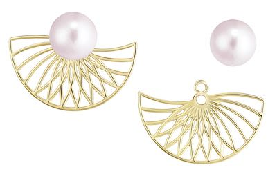 Misaki Ladies' Earrings Smooth Gold