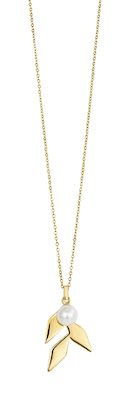 Misaki Ladies' Necklace Tree Gold