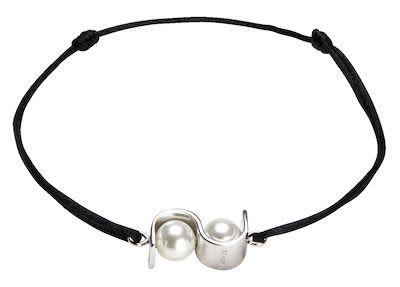 Misaki Ladies' Bracelet Initials Black