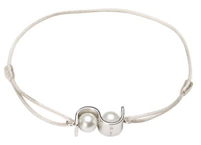 Misaki Ladies' Bracelet Initials Light Grey