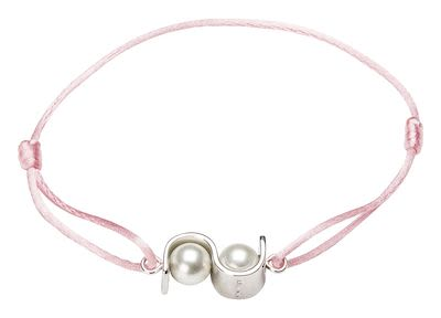 Misaki Ladies' Bracelet Initials Light Pink