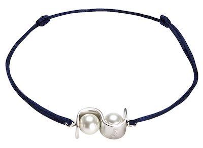 Misaki Ladies' Bracelet Initials Navy