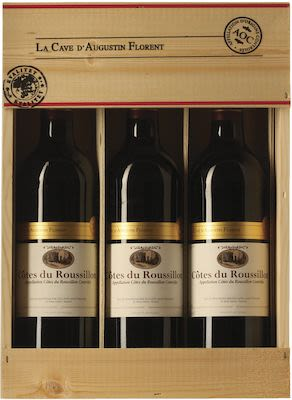 La Cave d'Augustin Florent Bergerac Wooden box 3x75 cl. - Alc. 13% Vol.