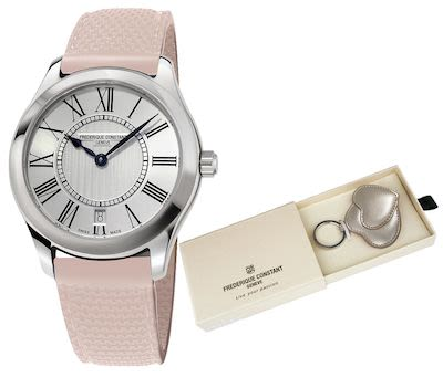 Frederique Constant  Classics quartz Ladies - Pink Ribbon