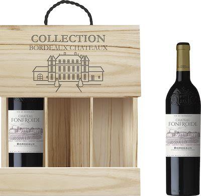 Château Fonfroide Bordeaux in wooden box 3x75 cl. - Alc. 14% Vol.