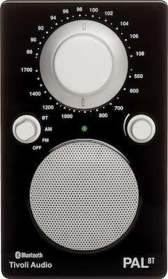 Tivoli Audio PAL BT Bluetooth Portable Radio, black/white