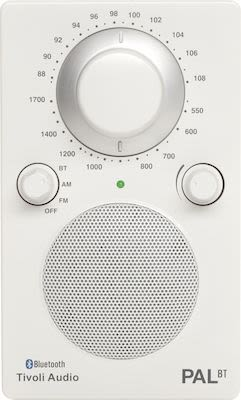 Tivoli Audio PAL BT Bluetooth Portable Radio, white/white