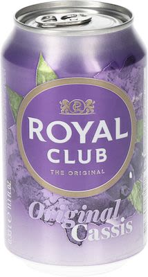 Royal Club Cassis 24x33 cl. cans.