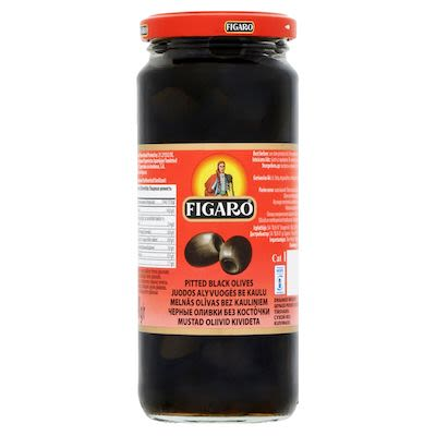 Figaro pitted black olives 340 g