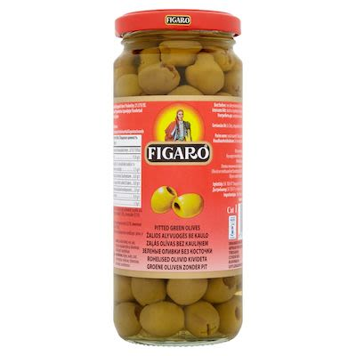 Figaro pitted green olives 340 g