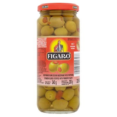 Figaro stuffed green olives with piemento paste 340g