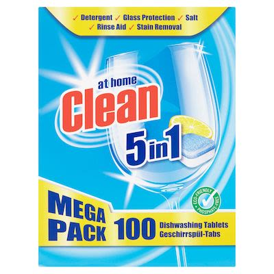 At Home Clean Dishwashing Tabs 100pcs 5 in 1