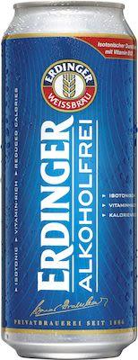 Erdinger wheat beer alcohol free 24x50 cl. cans. - Alc. 0% Vol.