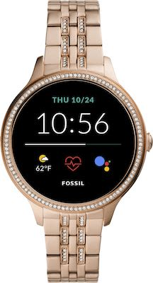 Fossil FTW6073 Smartwatches Rose gold tone Stainless Steel
