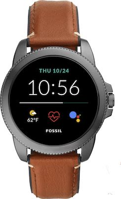Fossil FTW4055 Smartwatches Brown Leather