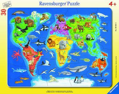 Ravensburger World Map Animals Puzzle