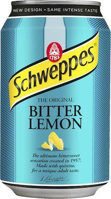 Schweppes Bitter Lemon 24x33 cl can