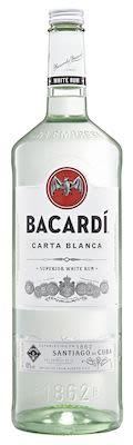 Bacardi Carta Blanca 300 cl. - Alc. 40% Vol.