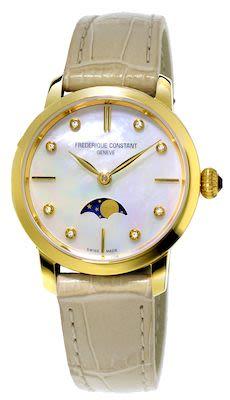 FC Ladies' Slimline Moonphase Quartz Watch
