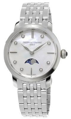 FC Ladies' Slimline Moonphase Steel Watch