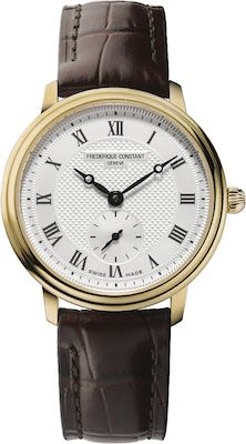 FC Ladies' Slimline Gold w/Leather Watch