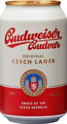 Budweiser Budvar 24x33 cl. cans. - Alc. 5% Vol.