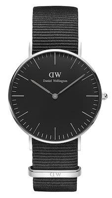 Daniel Wellington Classic Black Cornwall Unisex Watch Silver