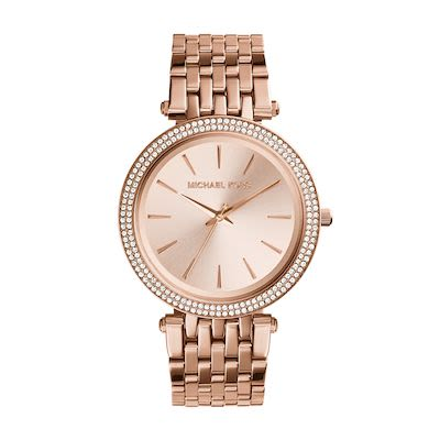 Michael Kors Ladies' Darci Pavé Rose Gold-Tone Watch