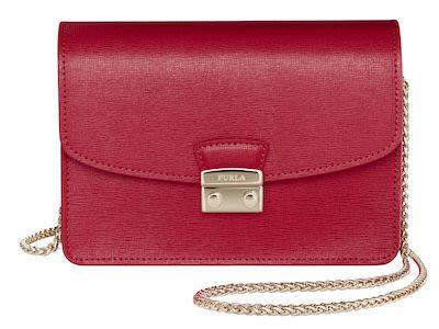 Furla Giulia Crossbody Leather Bag, Ruby