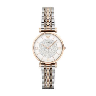 Emporio Armani Ladies' Gianni T-Bar Watch Two-Tone