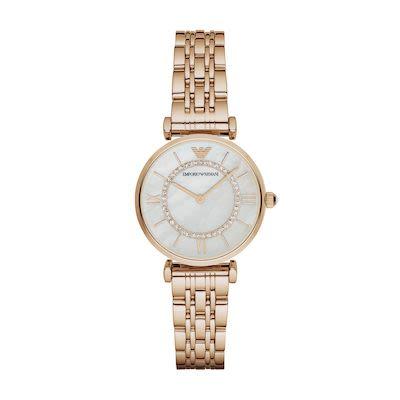 Emporio Armani Ladies' Gianni T-Bar Watch PVD Rose