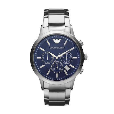 Emporio Armani Men's Luigi Chronograph Watch Blue