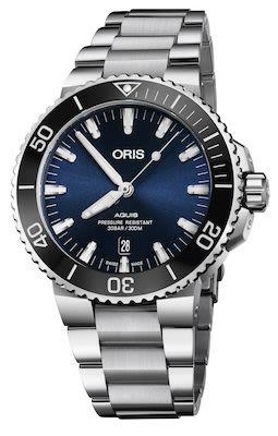 Oris Aquis Gents Date Watch, Deep Blue