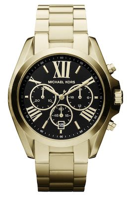 Michael Kors Bradshaw Black Dial Gold-Tone Watch