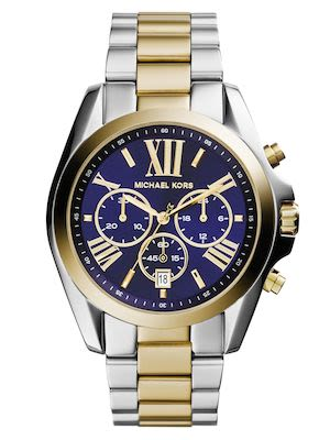 Michael Kors Bradshaw Chronograph Blue-Dial Two-Tone Watch