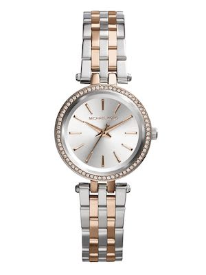 Michael Kors Ladies' Darci Petite Silver & Rose Gold-Tone Watch