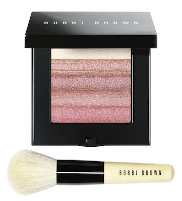 Bobbi Brown Rose Shimmer Brick with Brush Set
